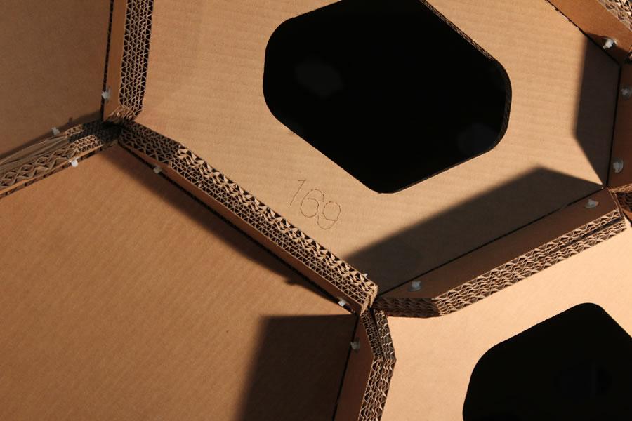Cocoon Cardboard padiglione design