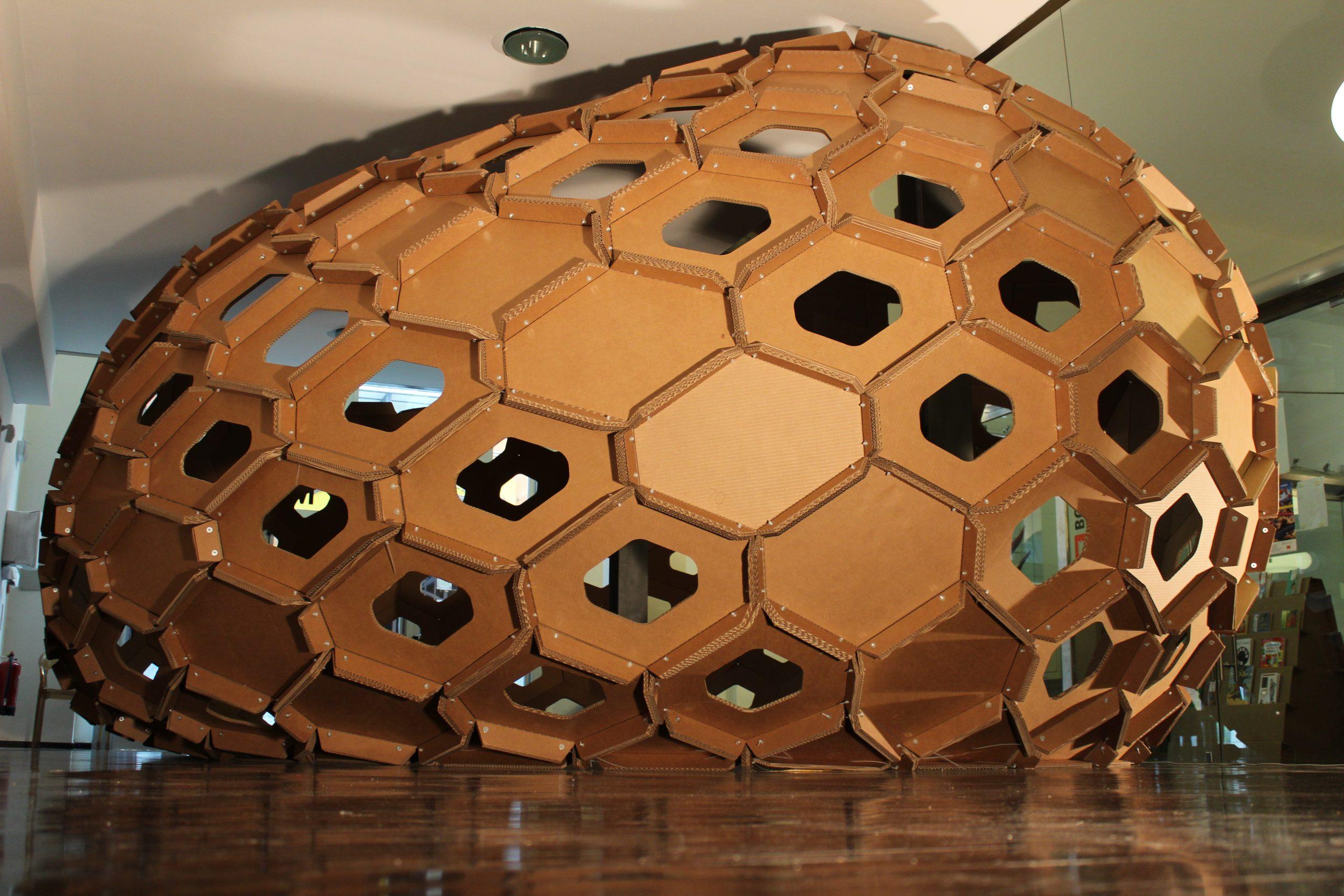 cocoon cardboard padiglione cartone design